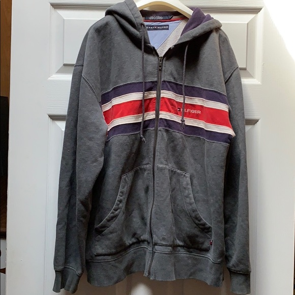 Tommy Hilfiger Jackets & Blazers - Vintage Heather Grey Tommy Hilfiger Zip Up Jacket